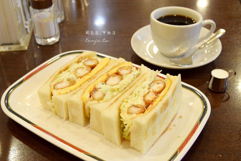 【名古屋美食】KONPARU コンパル 老舗喫茶店超好吃炸蝦三明治!車站早餐推薦