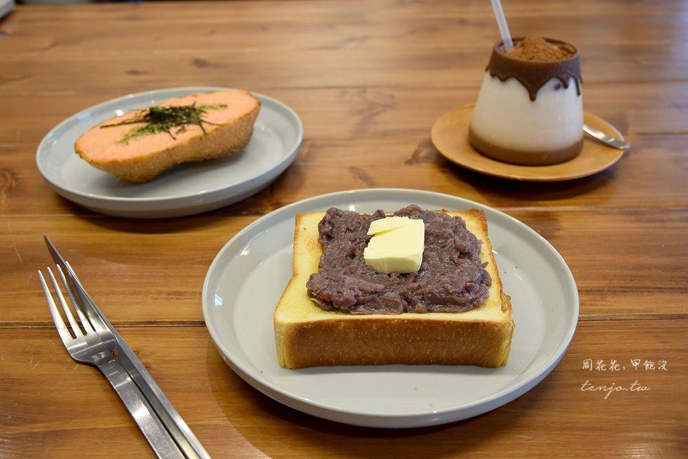 【台北美食】Powder workshop 東門不限時咖啡店,早餐吃一片記憶中的紅豆奶油吐司