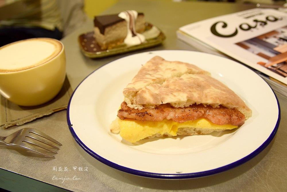 【台北美食】窩著咖啡 大安捷運站不限時平價咖啡廳!推薦特色豬排大餅三明治