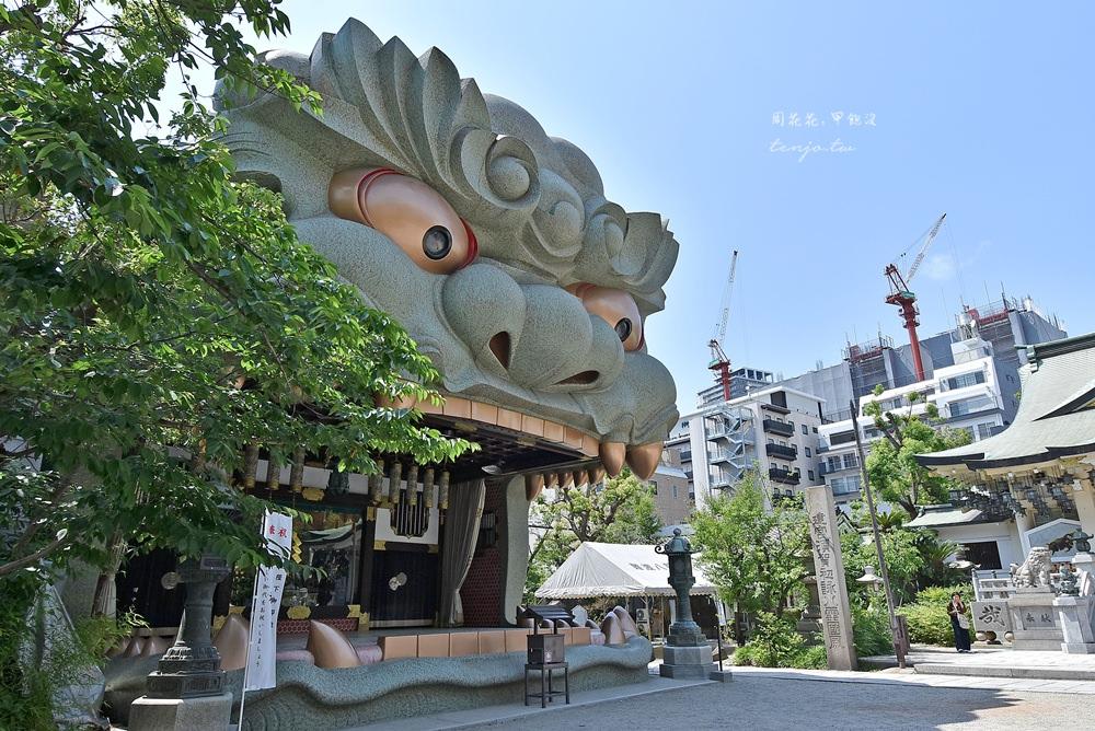 【大阪自由行景點】難波八阪神社 巨大獅子頭神殿吸厄運!招福納金好運來