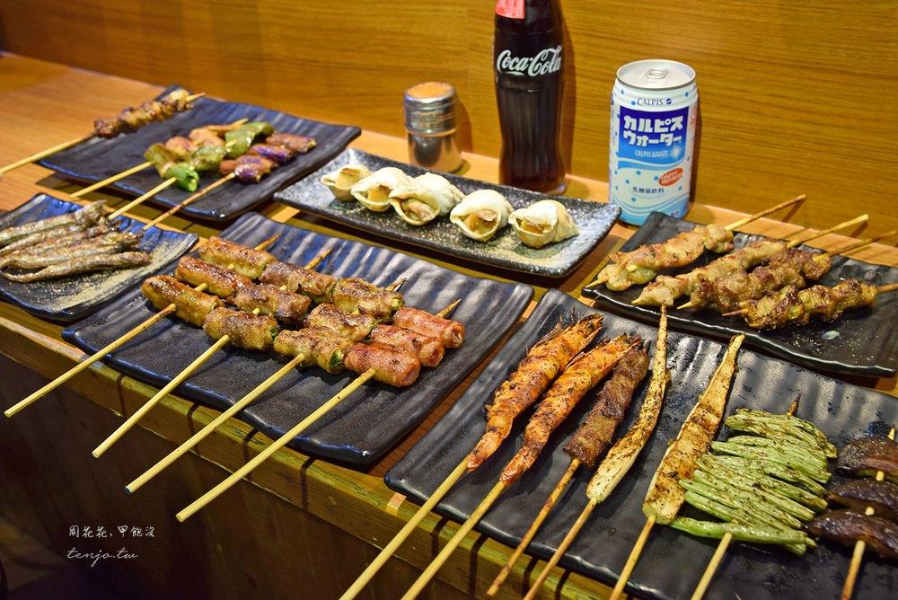 【台北美食】柒串燒屋 平價串燒15元起!海鮮再升級,長安東路不限時餐廳推薦