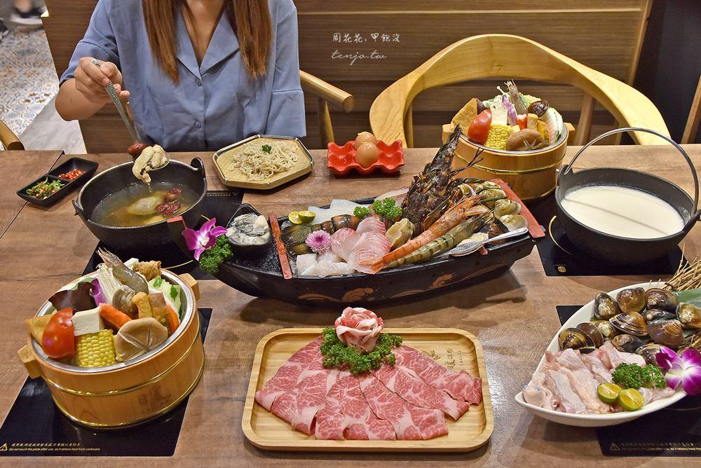 【基隆美食】暖鍋物 食尚玩家推薦噴火燒酒雞鍋!新鮮龍蝦海鮮火鍋,菜盤可換肉盤