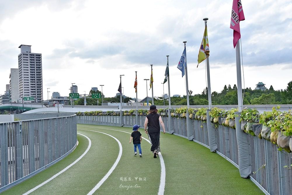 【大阪景點】森之宮Q's Mall BASE 百貨公司內的空中跑道!大阪城一日遊隱藏版玩法