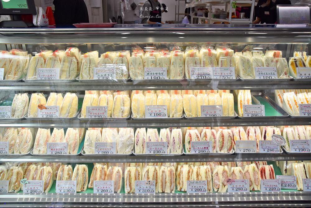 【札幌美食】Sandria 24小時營業三明治專賣店!多達40種口味平價早餐宵夜推薦