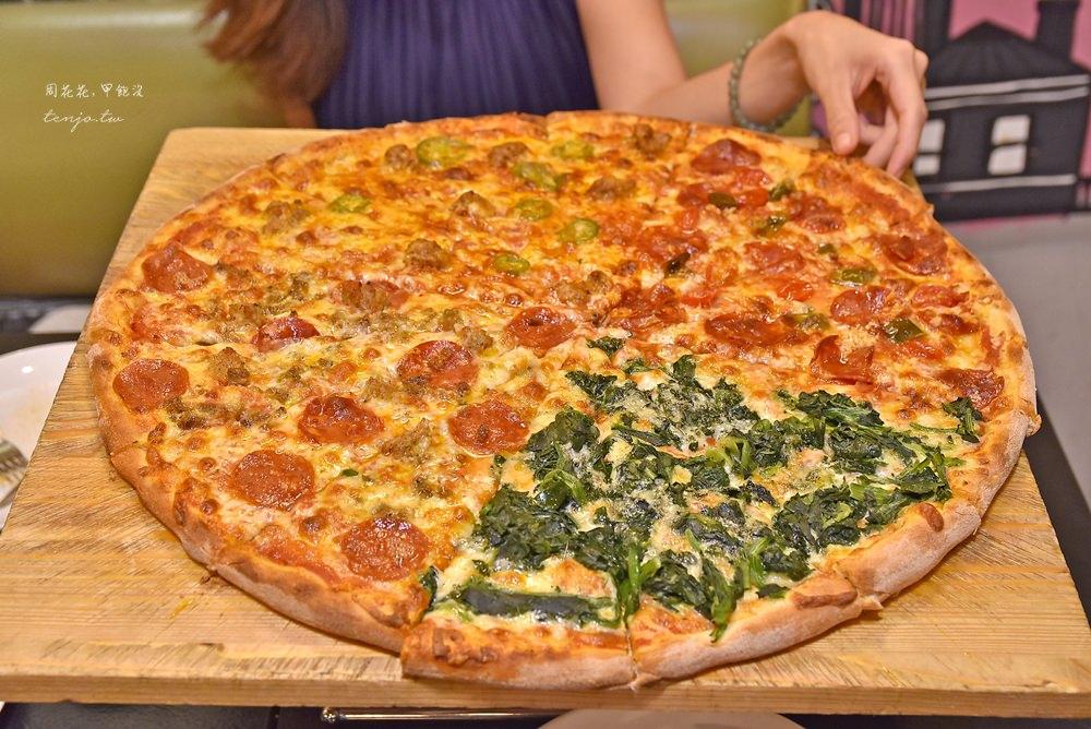 【台北東區美食】Little New York Pizzeria 小紐約披薩 18吋四拼超大pizza!