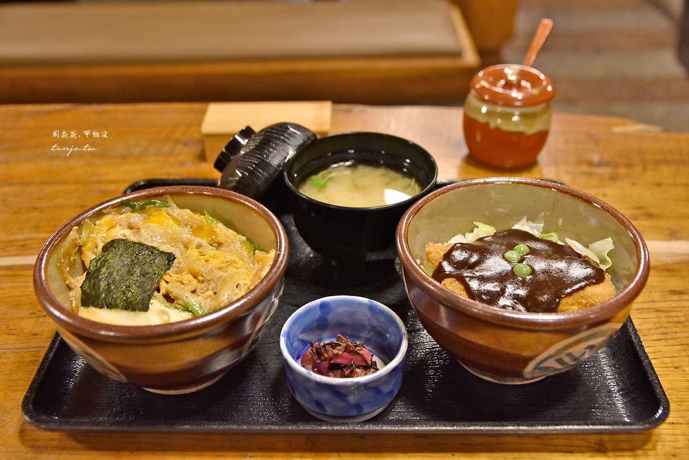 【岡山食記】味司野村豬排蓋飯 岡山B級美食推薦!雙拼丼飯一次吃兩碗