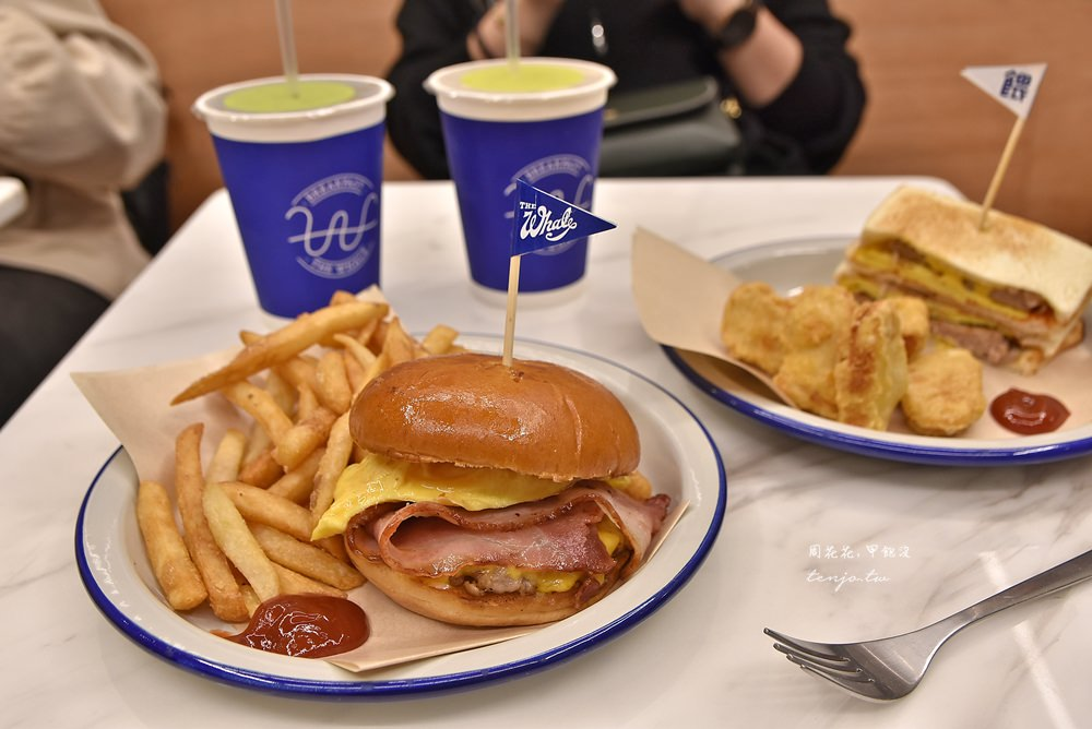 【台北大安站早午餐推薦】餵我早餐The Whale 大安店菜單:三明治、漢堡、義大利麵