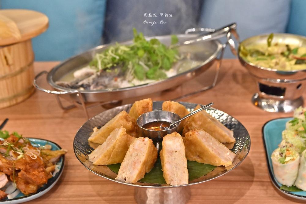 【信義區美食】香茅廚泰式餐廳微風南山店 超厚月亮蝦餅!有包廂聚會餐廳推薦