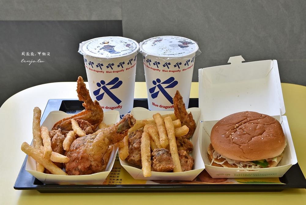 【台東市美食】藍蜻蜓速食專賣店 高人氣排隊炸雞名店!觀光客朝聖必吃炸雞腿漢堡