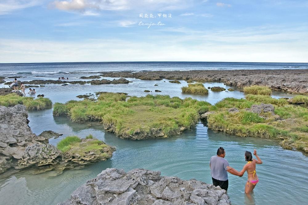 【蘭嶼景點】野銀冷泉 海水淡水交會處的藍綠漸層之美,蘭嶼消暑玩水親子景點推薦
