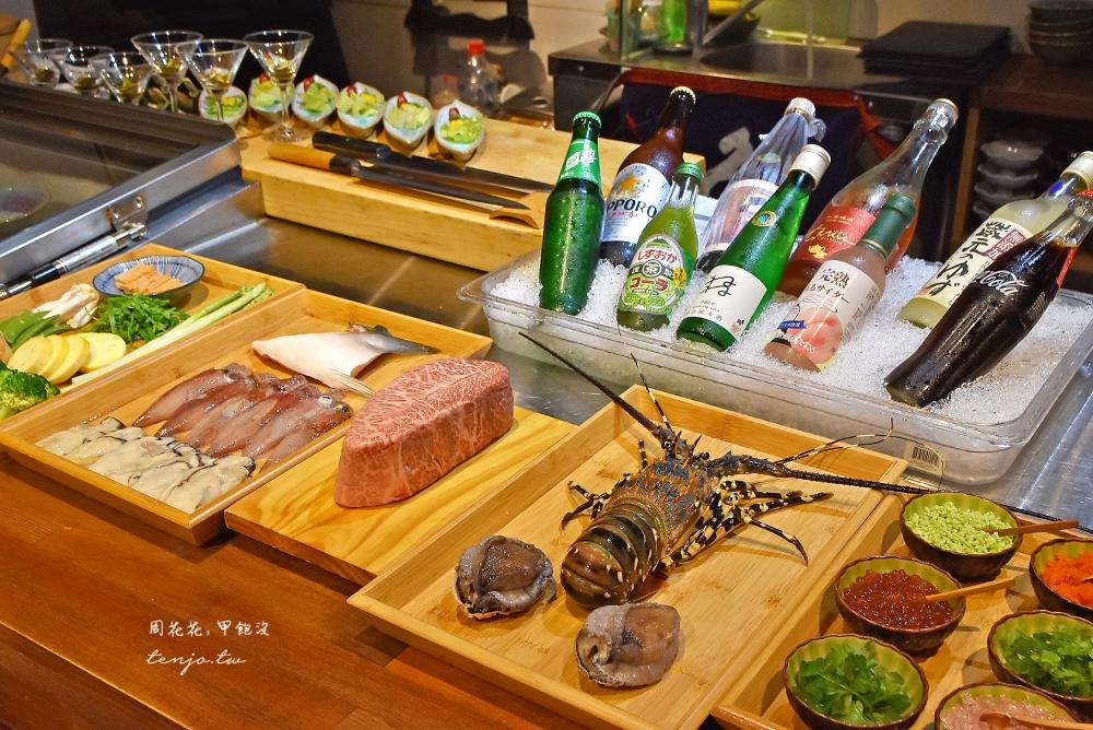 【台北無菜單料理推薦】大黑料理亭深夜板前鮨 平價鐵板燒能吃到龍蝦日本A5和牛