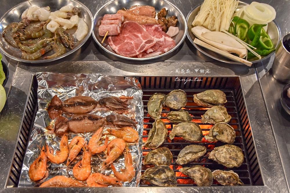 【屏東小琉球美食】小琉球五點燒烤 無煙炭烤海鮮吃到飽!大魷魚牡蠣鮮蝦竹蟶全都有
