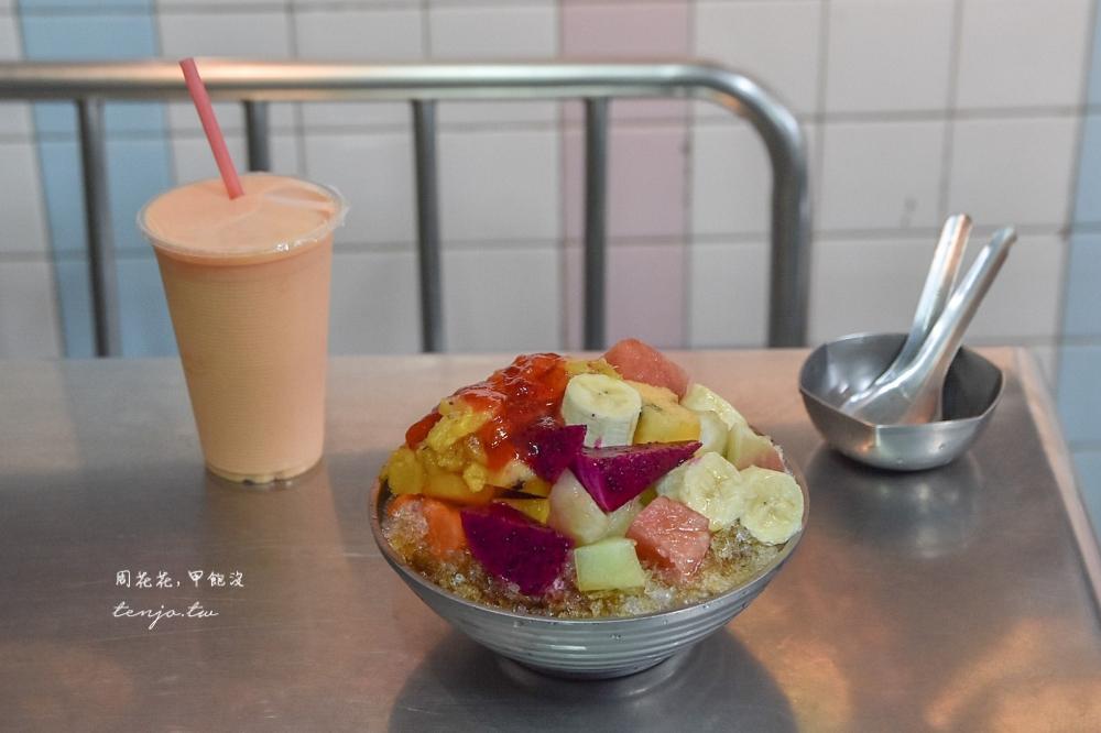 【屏東市冰店推薦】秋林牛乳大王 便宜大碗水果冰、木瓜牛奶!50年老店高評價