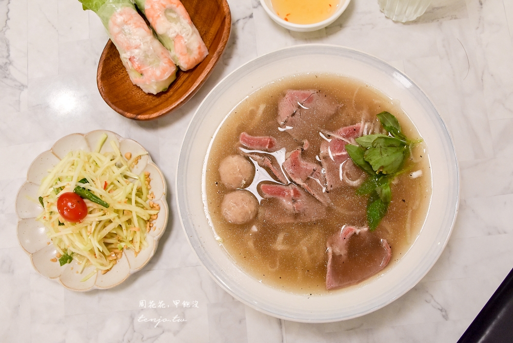 【台北車站美食餐廳】越亮微風北車店 號稱此生必吃一碗的越南河粉!菜單料理選擇多元