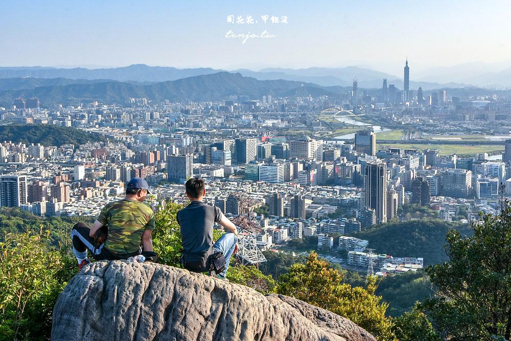【台北內湖景點】金面山步道 難度具挑戰性爬上剪刀石俯瞰101,IG拍照打卡網美點推薦