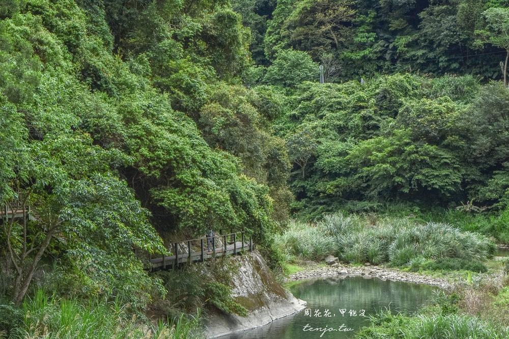 【新北市景點】淡蘭古道南路 淡蘭吊橋健行至石碇老街,全程約兩公里輕鬆好走景色幽美