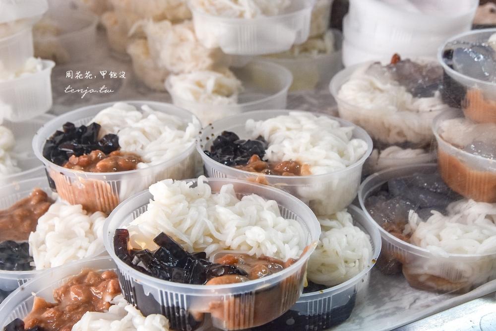 【台北大稻埕美食小吃推薦】呷二嘴 飄香超過一甲子的米苔目冰!夏天冬天菜單都好吃