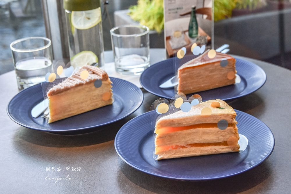【安平美食推薦】深藍咖啡館旗艦店 台南千層蛋糕界LV!菜單口味多號稱比Lady M好吃