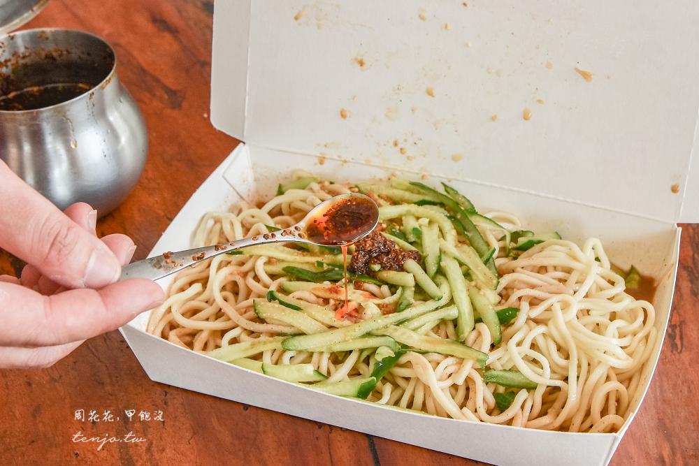 【屏東市小吃】任家涼麵忠孝店 獨門花椒辣醬加了以後更好吃!在地人排隊都推薦的美食