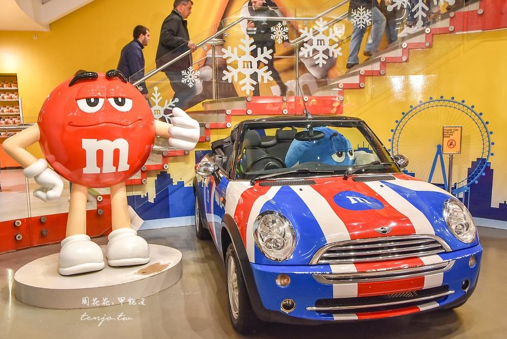 【英國倫敦景點推薦】M&M's World 巧克力專賣店 世界最大糖果店四層樓免費參觀!