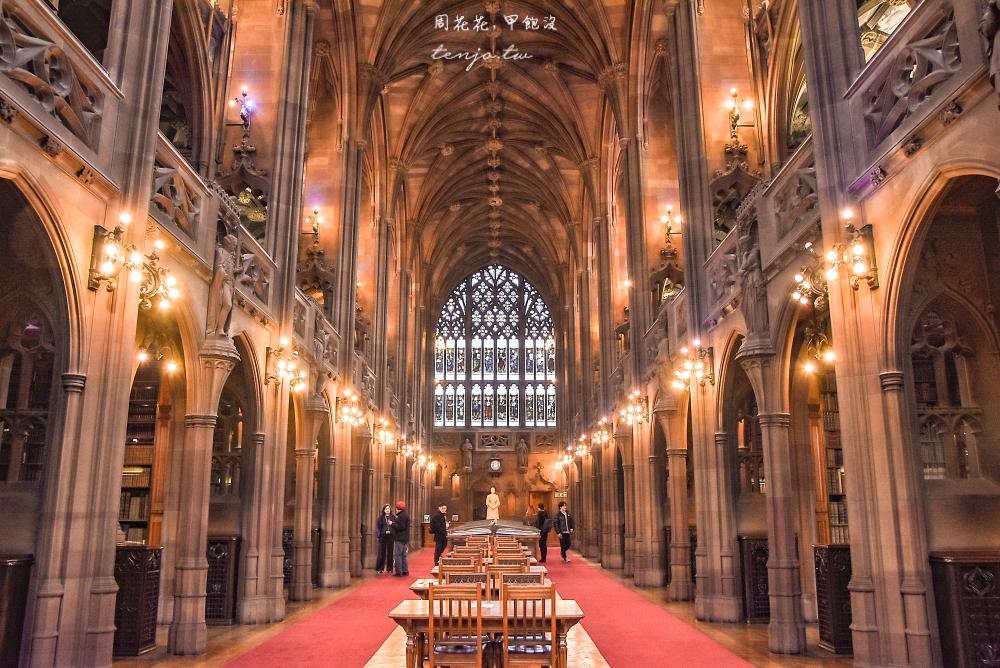 【英國曼徹斯特景點】約翰・萊蘭茲圖書館 美到像是教堂城堡!免費參觀曼大四大圖書館